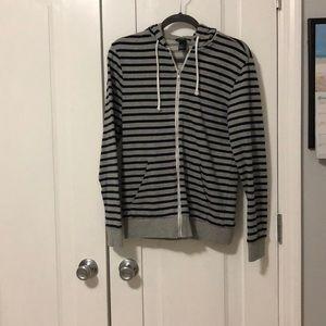 Striped zip up H&M hoodie